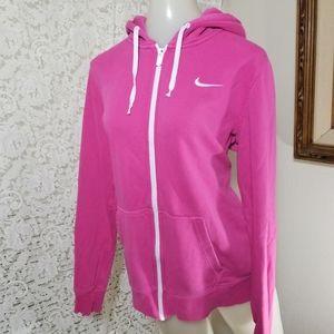 Nike • Women's Pink Full Zip Hoodie